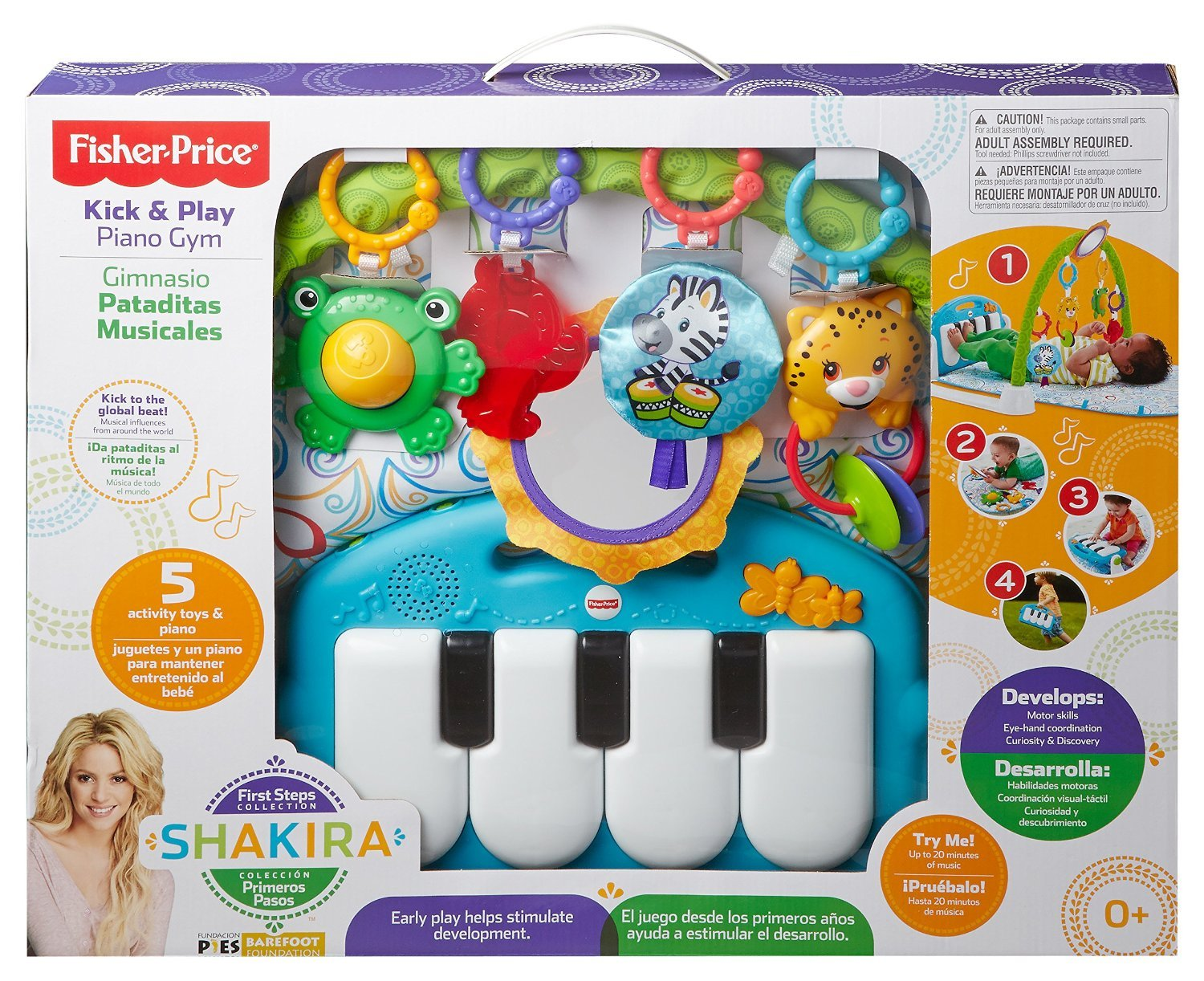 Amazon Fisher Price First Steps Kick N Play Piano Gym Baby