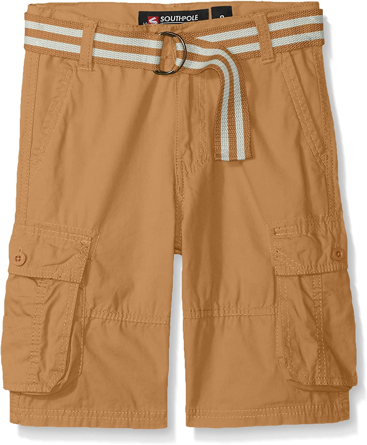 Southpole Boys Big Belted Mini Canvas Cargo Shorts in
