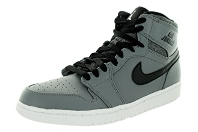 buy popular 3ebc4 e138e Nike Jordan Mens Air Jordan 1 Retro High Cool Grey White Black White