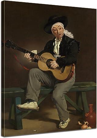 Bilderdepot24 Art Print Vieux Maitres Edouard Manet Le Chanteur Espagnol 90x120 Cm Xxl Images Sur Toile Toile Deco Imprimee Tableau Toile Photo Sur Toile Amazon Fr Cuisine Maison
