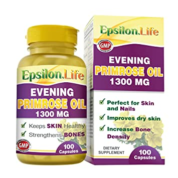 Epsilon Evening Primrose Oil 1300mg (100 Capsules) by Epsilon
