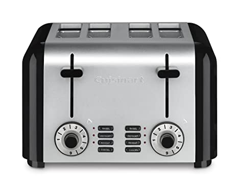 3722b3b9925 Image Unavailable. Image not available for. Color  Cuisinart CPT-340  Compact Stainless 4-Slice Toaster ...