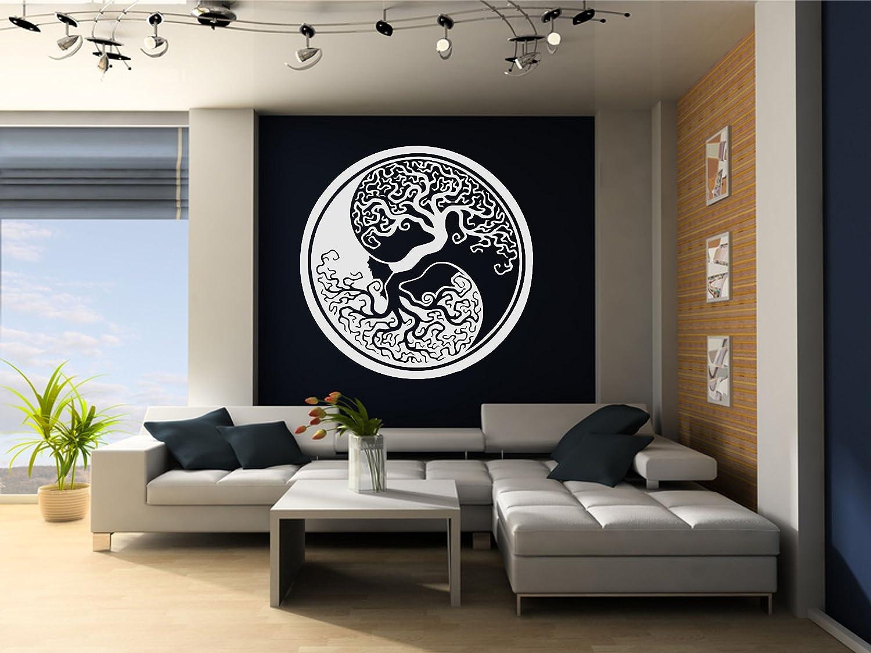 Pochoir en PVC r/éutilisable 297 x 420 mm A3 size blanc Arbre de vie Yin Yang Mandala r/éutilisable Pochoir A3/A4/A5/et plus grandes tailles D/écoration murale//Tol2 11.7 x 16.5 in