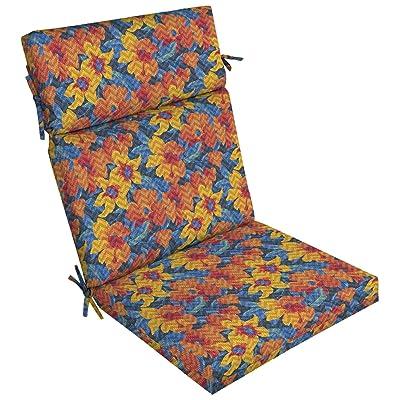 Arden Companies Arden Selections DriWeave Disco Floral Outdoor High Back Chair Cushion : Garden & Outdoor
