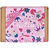 Jackinthebox 2 in 1 Craft Kit for Girls with Princess Tiara and Wand (Multicolour)