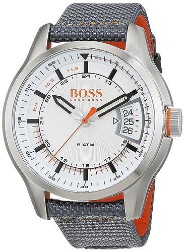 8cc576176fe Hugo Boss Orange Hong Kong Mens Quartz Analogue Classic Grey Rubber Strap  1550015  Amazon.co.uk  Watches