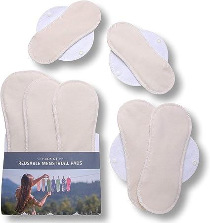 7 Reusable Cotton Cloth Menstrual Pantyliner