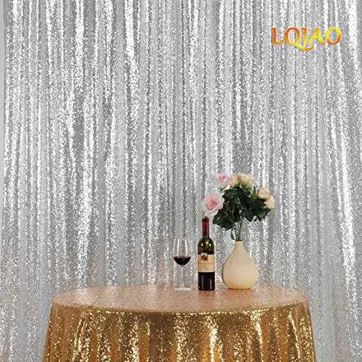9x9ft Sequin Backdrop Wedding Birthday Party Curtain Background Photo Decor