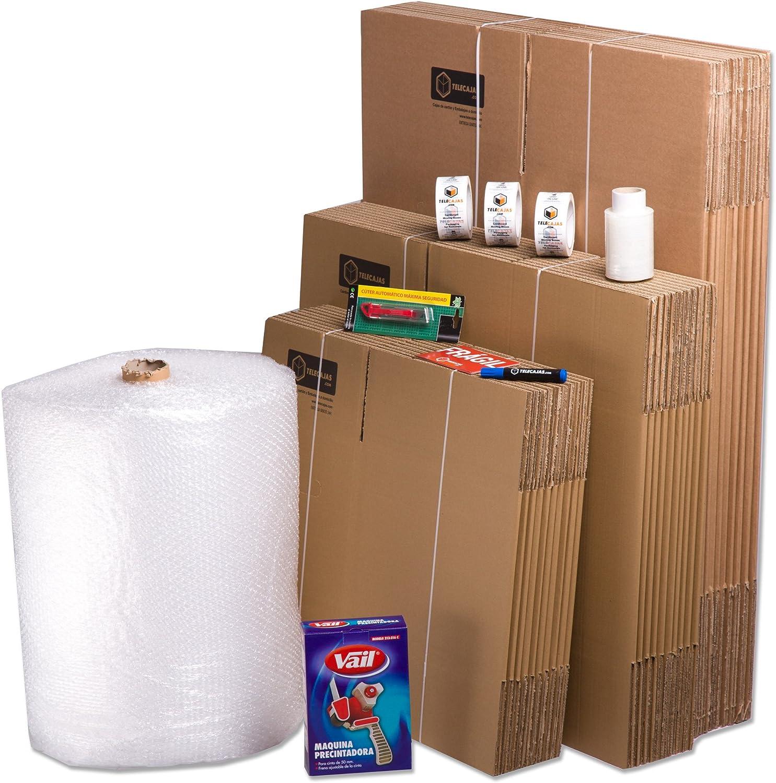 TeleCajas® | Pack Mudanza (Cajas de cartón, plástico Burbujas, precinto, etc) con el Embalaje para una mudanza de casa (Pack MUDANZA Couple): Amazon.es: Hogar