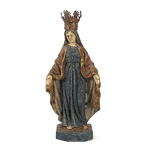 Creative Co-op Virgin Mary Statue with Removable Crown