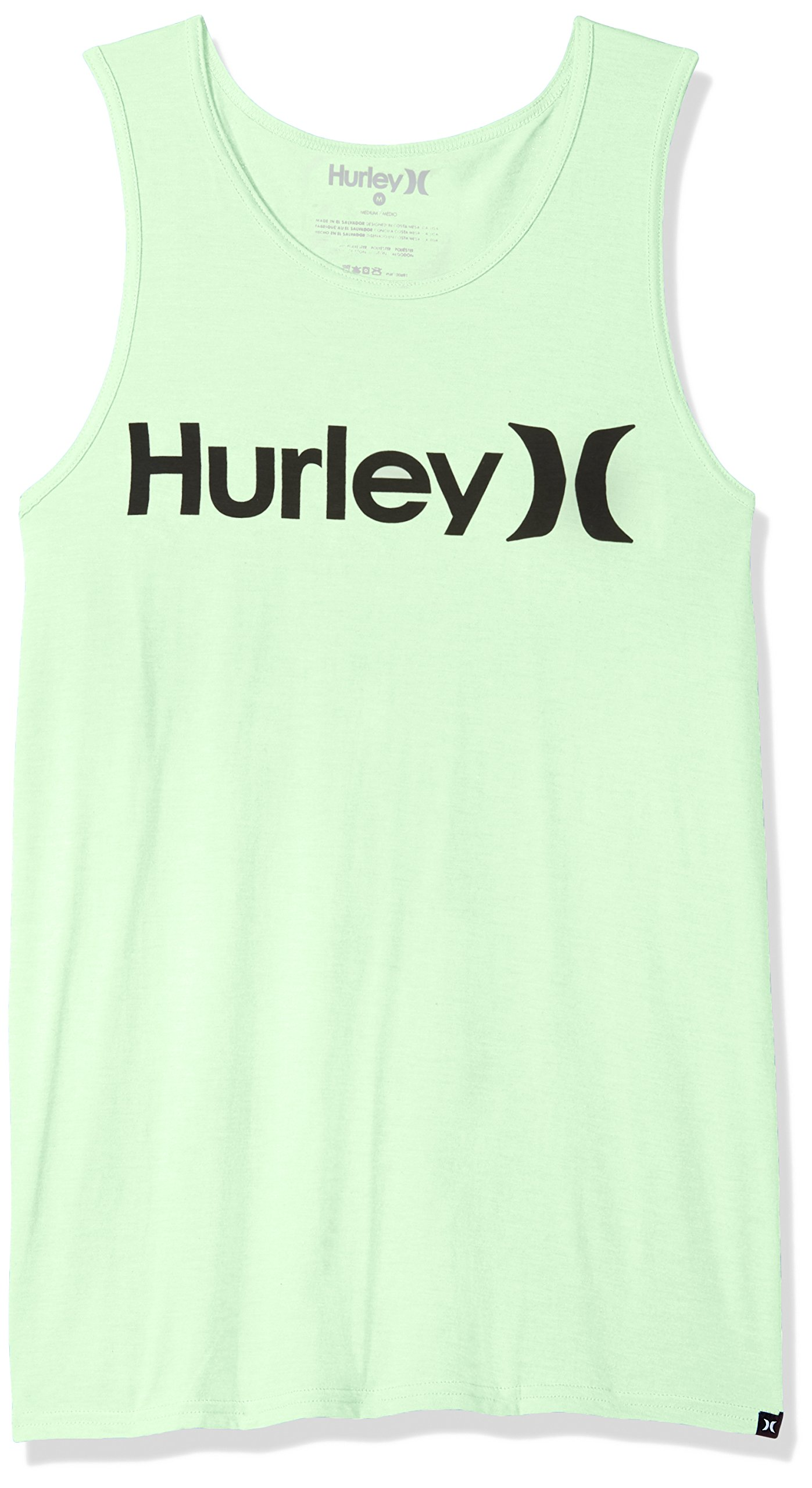 Hurley Men's One and Only Graphic Tank Top, Vapor Green Heather//Black, L