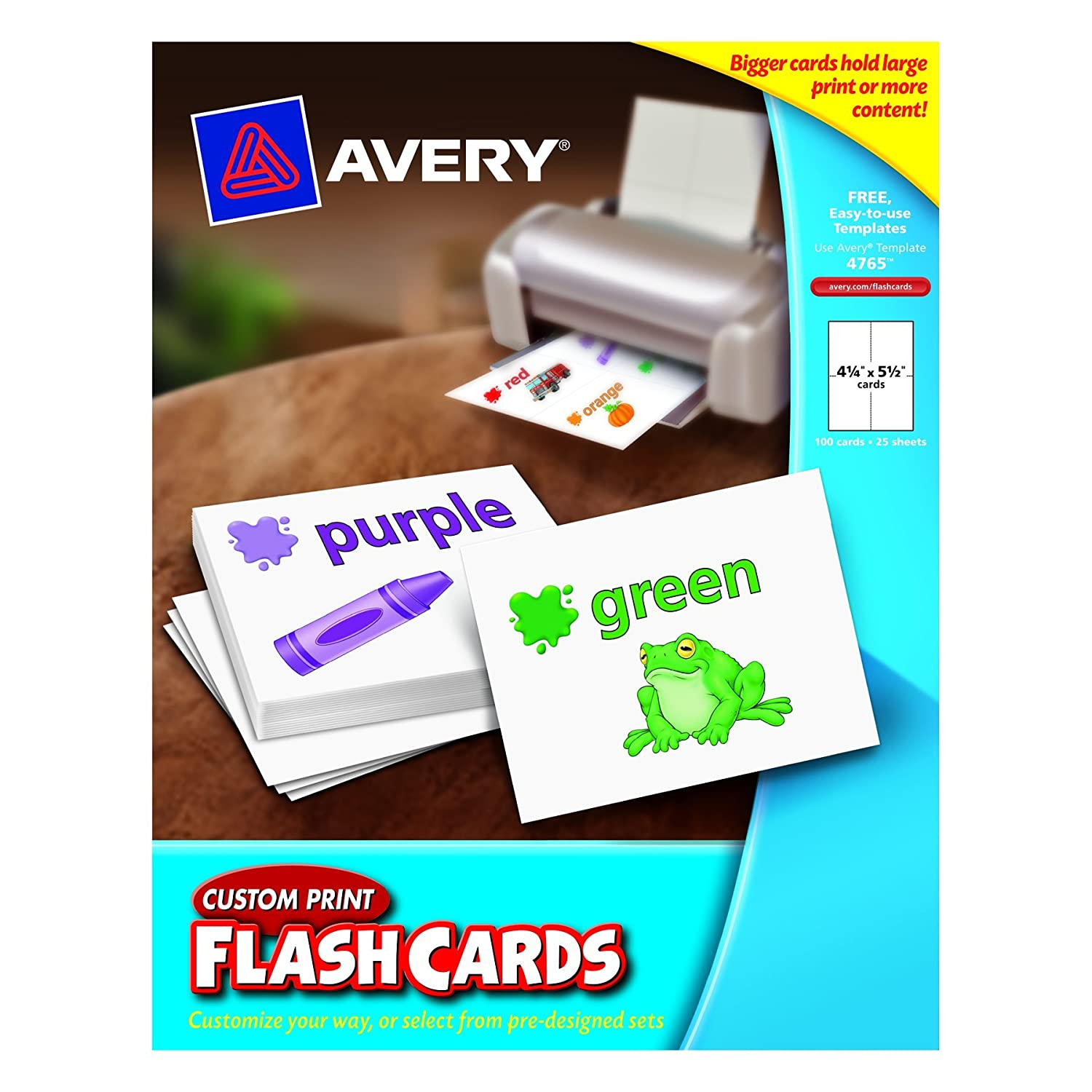 Amazon Avery Custom Print Flash Cards 425 X 55 Inches For