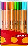 STABILO point 88 - Étui ColorParade de 20 stylos-feutres pointe fine - Coloris assortis sans attache