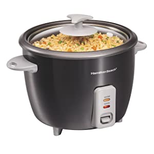 Hamilton Beach 37517 Rice Cooker & Steamer 16 Cup Black