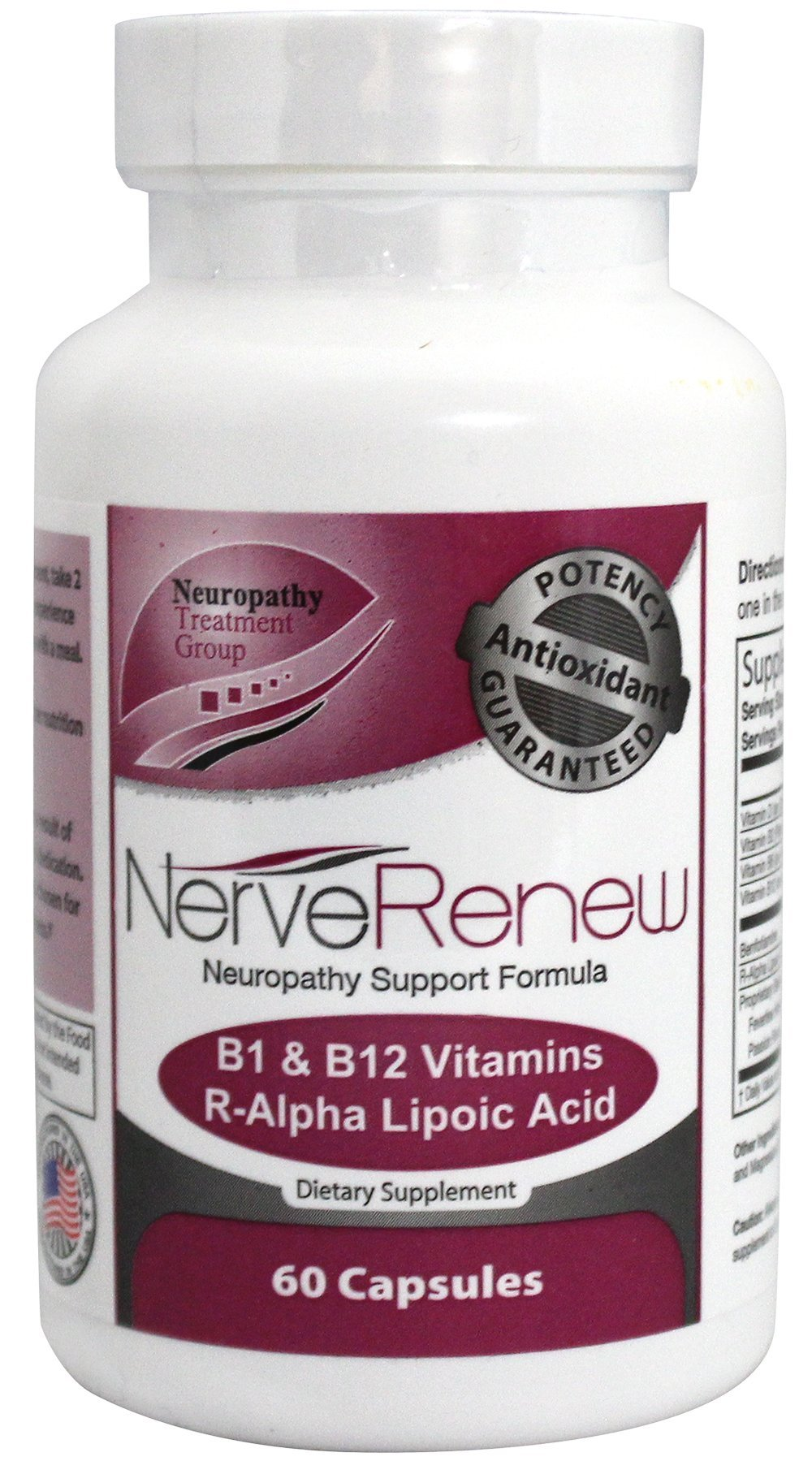 Life Renew: All-Natural Neuropathy Support Supplement with Stabilized R-Lipoic Acid - Absorbs Fast - Alternative Nerve Pain Treatment - 30 Day Supply (60 Count) by LifeRenew