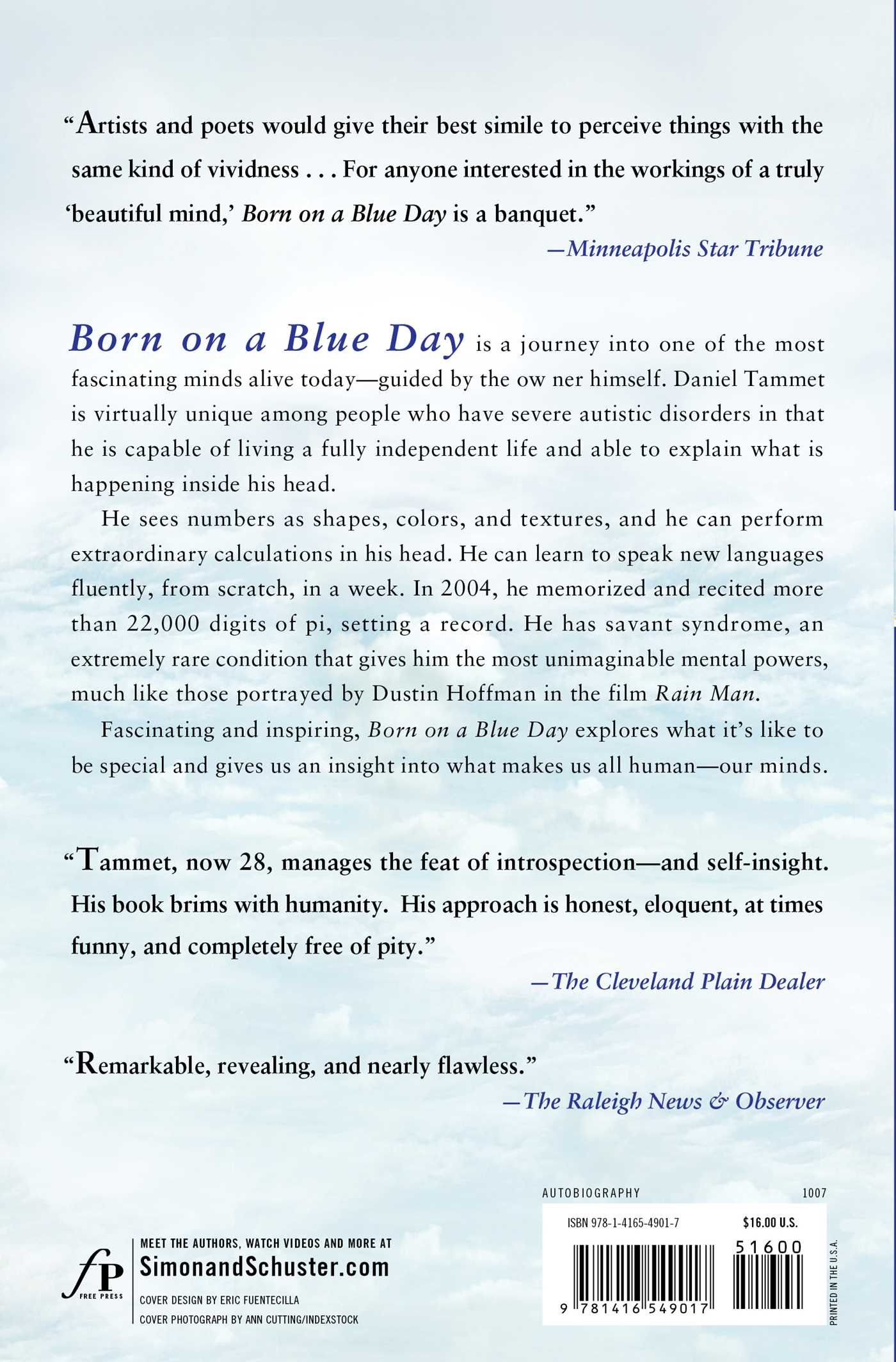 Born on a Blue Day Inside the Extraordinary Mind of an Autistic
