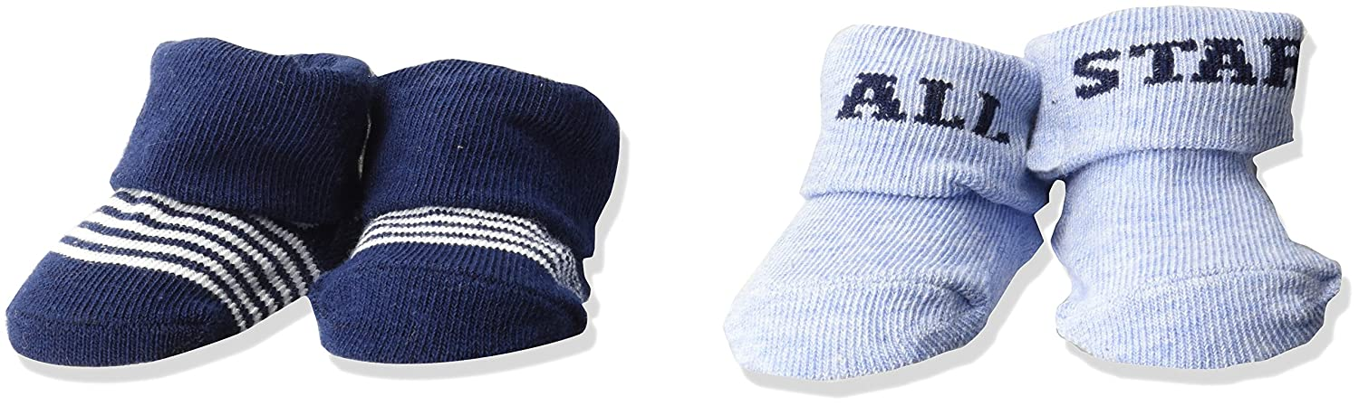 b5a410c84 Carter's baby-boys Carter's Boy Folded Cuff Booties (2 Pack) Socks - Multi  -: Amazon.co.uk: Clothing