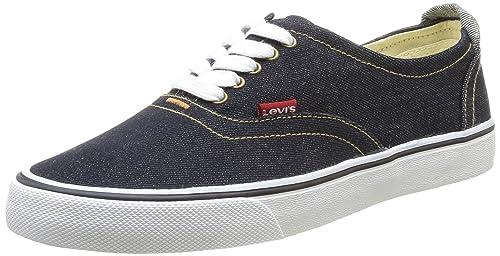 Levis Original Red Tab Sneaker Low - Zapatillas de Deporte de Canvas para Hombre Azul Bleu