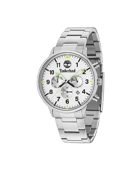Timberland Reloj Multiesfera para Hombre de Cuarzo con Correa en Acero Inoxidable 15263JS/01M: Amazon.es: Relojes