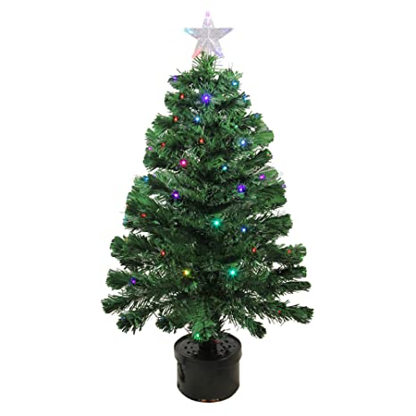 Image Unavailable - Amazon.com: 3' Pre-Lit LED Color Changing Fiber Optic Christmas Tree