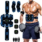Abs Stimulator, Muscle Toner - Abs Stimulating Belt- Abdominal Toner- Training Device for Muscles- USB Rechargeable…