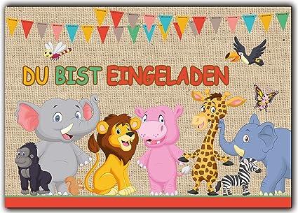Einladungskarte Kindergeburtstag Einladung Giraffe