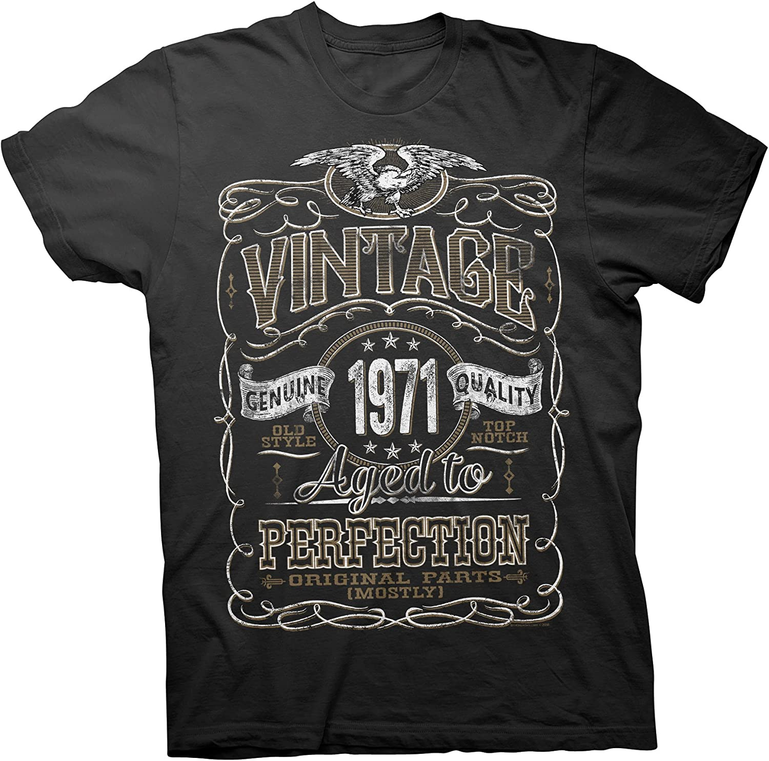 50th Birthday Gift Vintage 1970 Aged To Perfection Mostly Original Parts T-shirt
