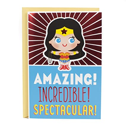 Hallmark Birthday Card For Kids With Sound Wonder Woman