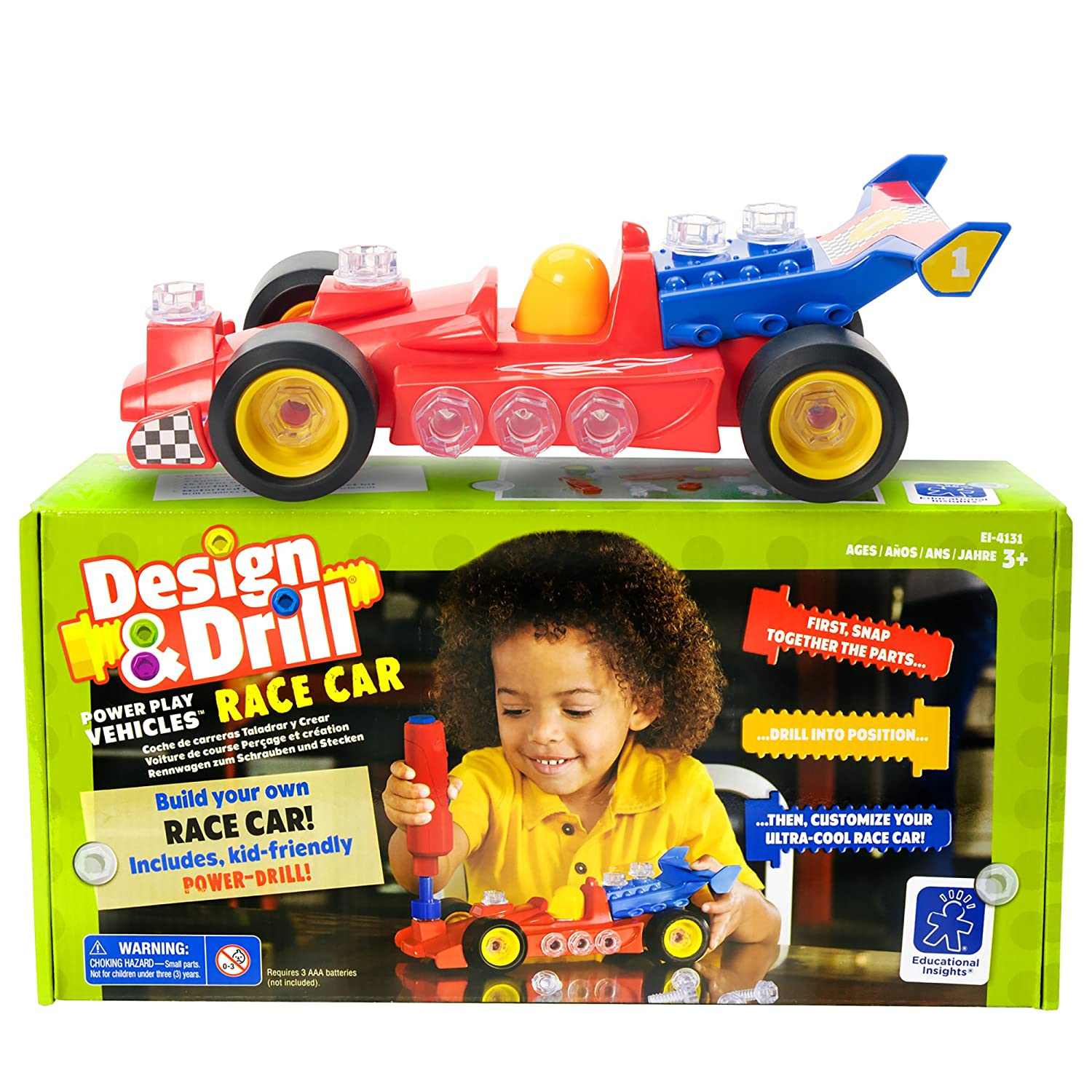 Educational Insights Design and Drill Power Play Vehicles Race Car EI-4131