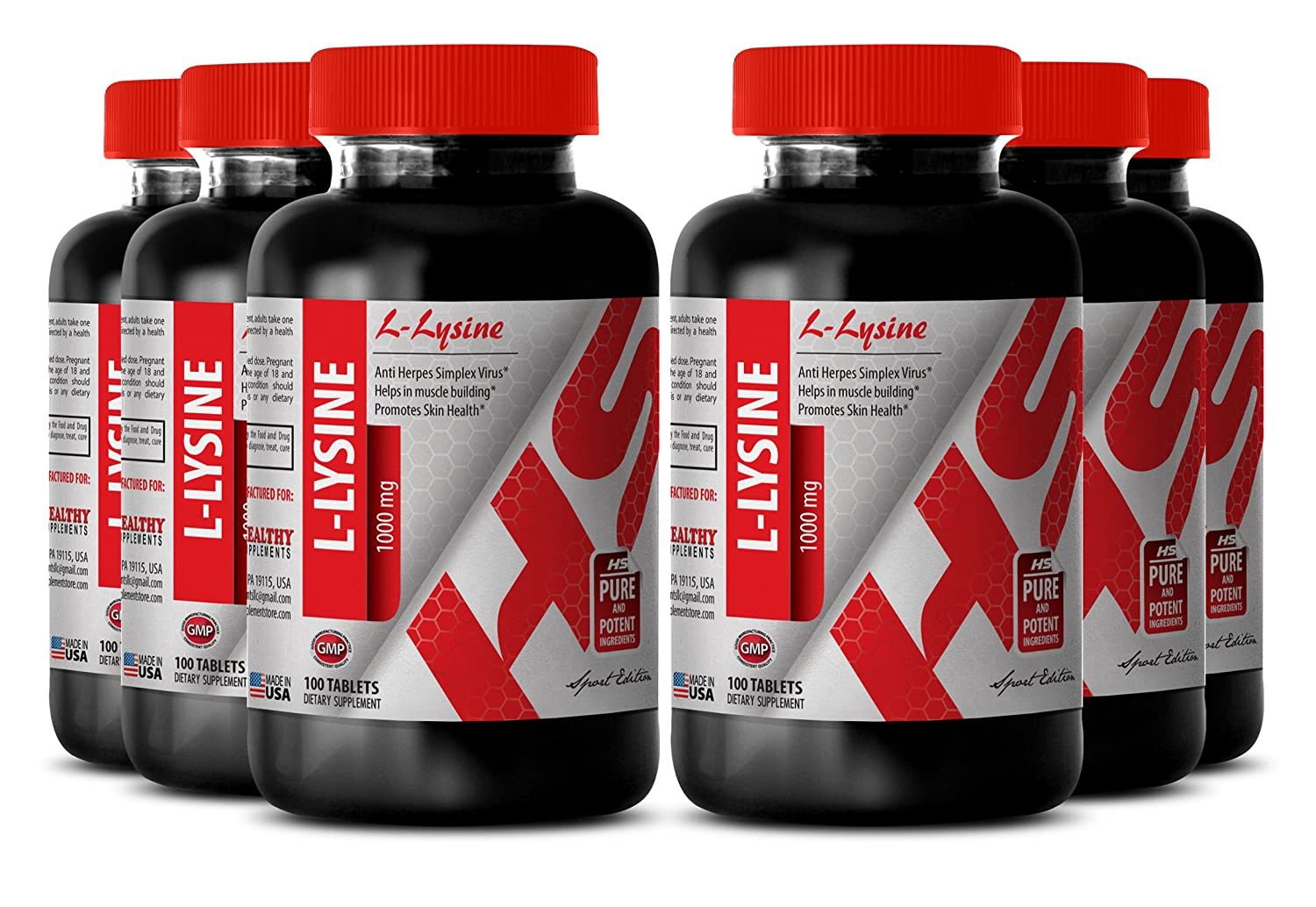 Amazon.com: Lysine weight loss - L-LYSINE SUPPLEMENT 1000 MG - fat burner (6 Bottles): Health & Personal Care