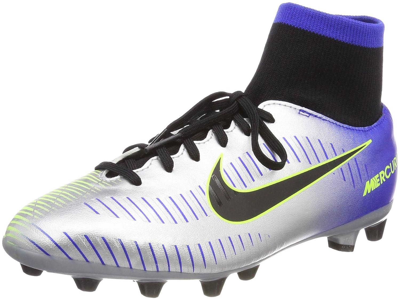 MultiCouleure (Racer bleu   noir-chr 407) Nike Jr Mercurial Vctry6 DF NJR Agp, Chaussures de Fitness Mixte Enfant 34 EU