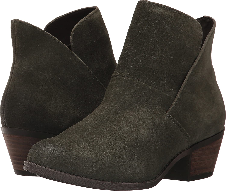 Moss Me Too Womens Zena 14 Leather Almond Toe Ankle Fashion Boots