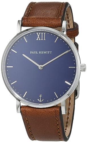 Paul Hewitt Unisex-Armbanduhr Analog Quarz Leder PH-SA-S-St-B-1M