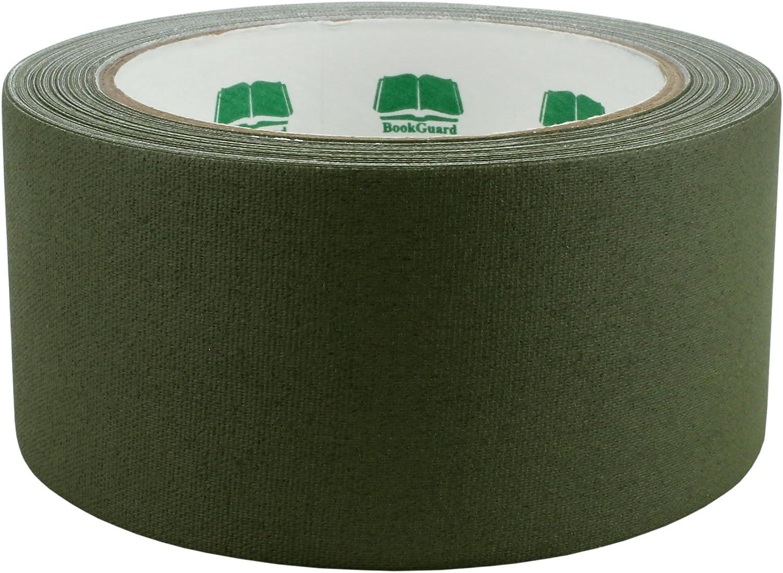 BookGuard 1-1//2 Inch Vinyl-Coated Cotton Cloth Book Binding Repair Tape 15