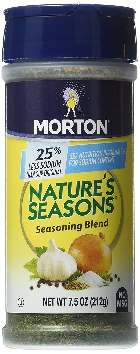 Morton's. Nature's Seasons, Seasoning Blend, No MSG & 25% Less Sodium, 7.5oz Bottle (Pack of 3)