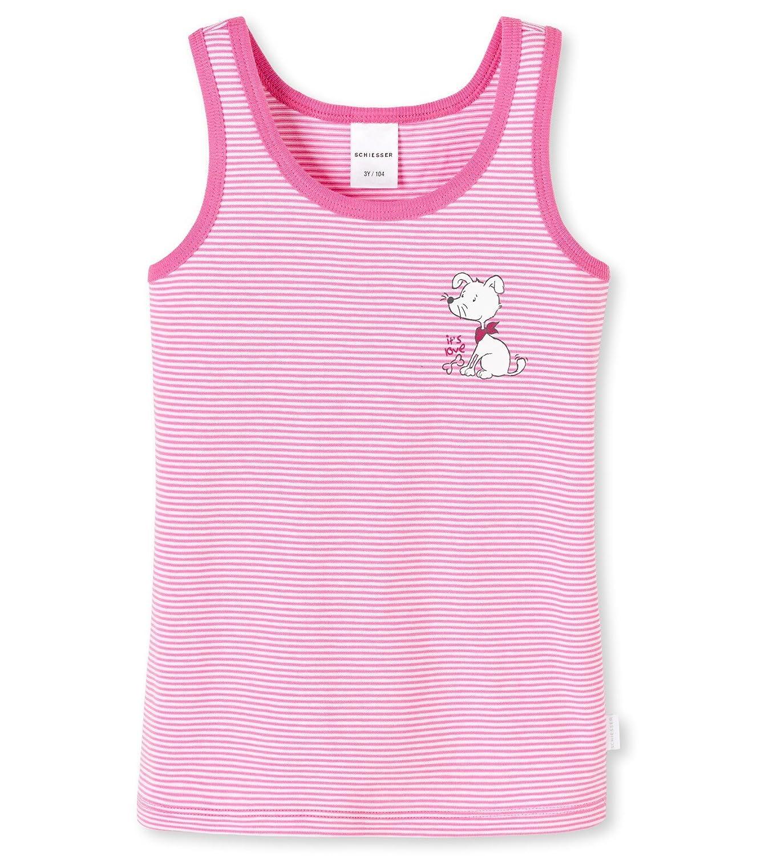 SCHIESSER Mädchen Unterhemd Hemd Tank Top Unterwäsche Stripes pink NEU*UVP 10,95