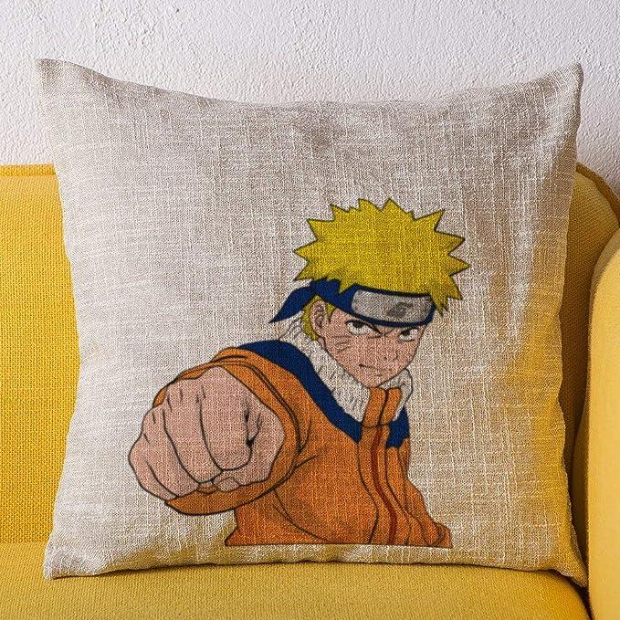 ZWCSM Naruto Lot de 4 Housses d'oreiller, Doux décoratif