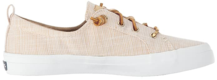 Amazon.com | Sperry Womens Crest Vibe Metallic Novelty Sneaker, Gold, 7.5 M US | Fashion Sneakers