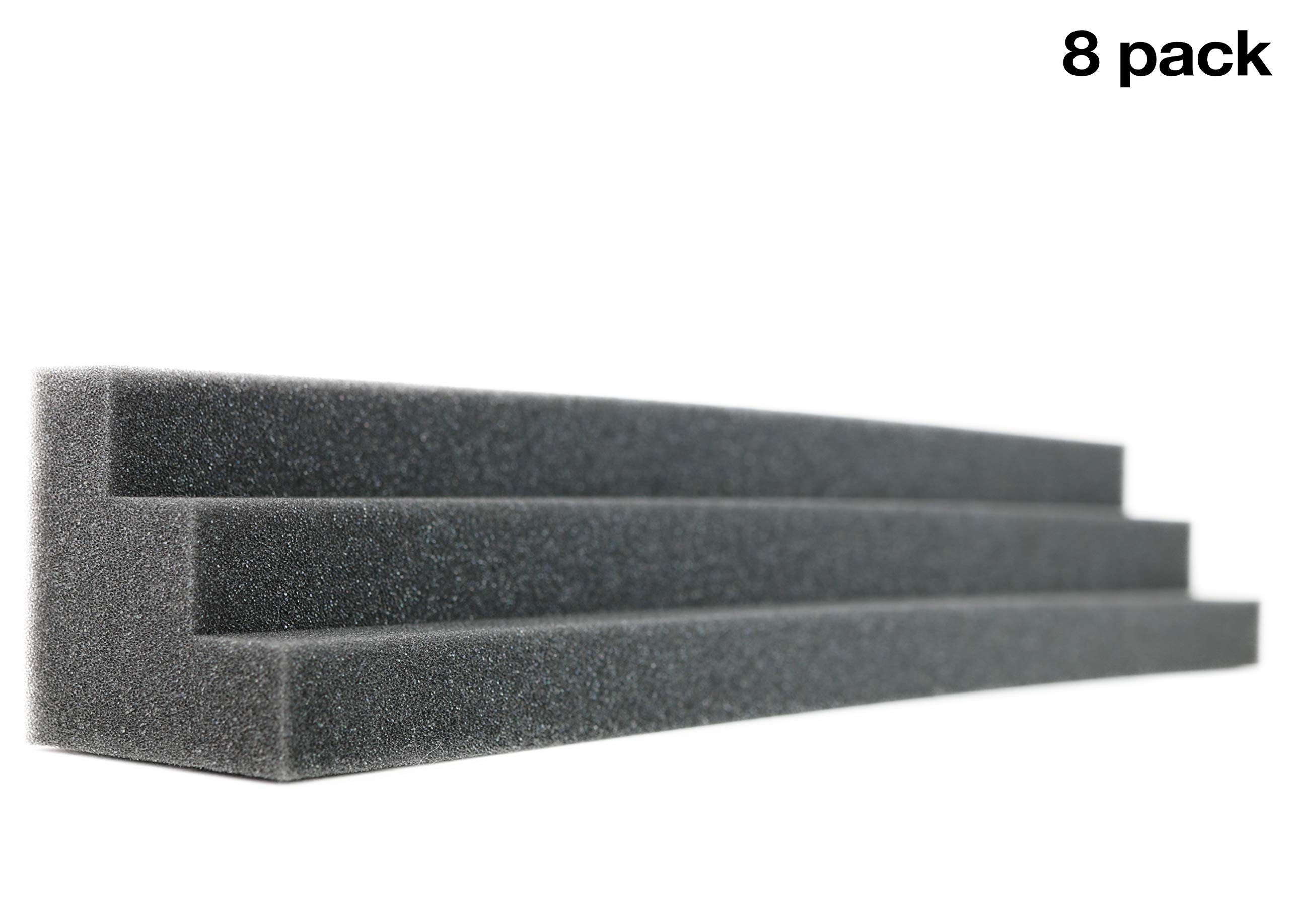 New Level Column Acoustic Wedge Studio Foam Corner Block Finish Corner Wall in Studios or Home Theater (8 Pack)