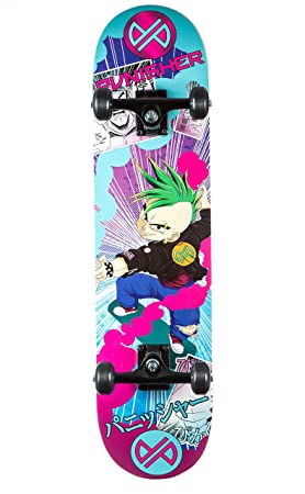 Punisher Skateboards Anime Complete Skateboard with Convace Deck