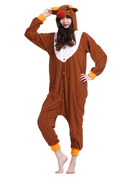 4ebb63c9fd Kigurumi Pigiama Anime Cosplay Halloween Costume Attrezzatura Adulto  Animale Onesie Unisex Altezze da 140 a 187 cm: Amazon.it: Abbigliamento