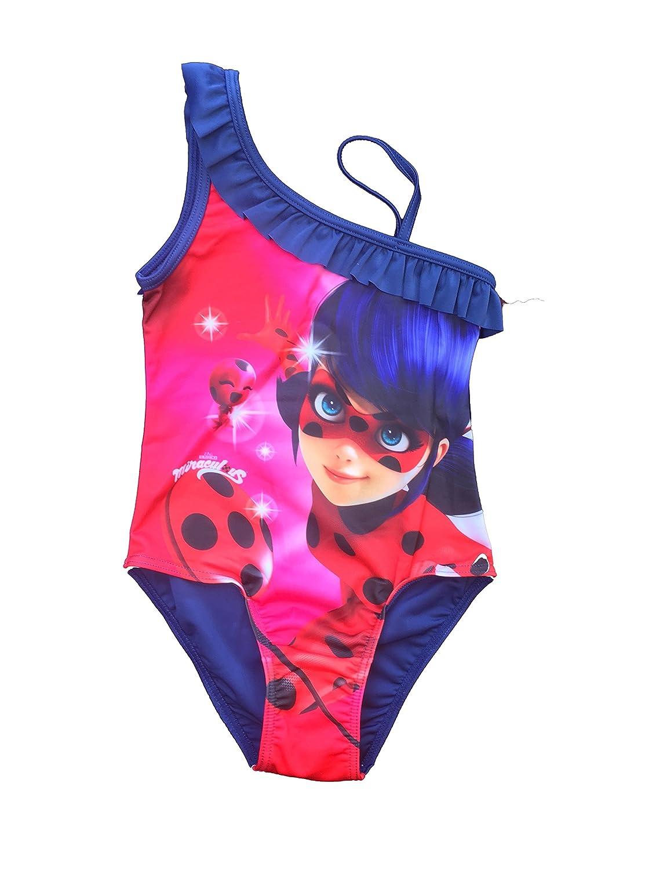 Ladybug miraculous - Traje de Dos Piezas - para niña Azul 4 años ...