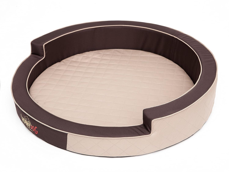 HOBBYDOG Ringo Dog Bed, Size 3, Beige