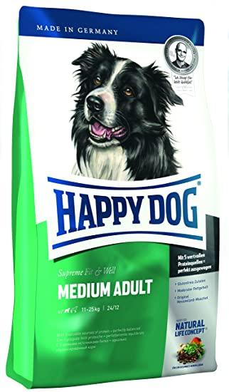 Happy Dog Dry Dog Food Adult Medium 12 5 Kg Amazon Co Uk Pet Supplies