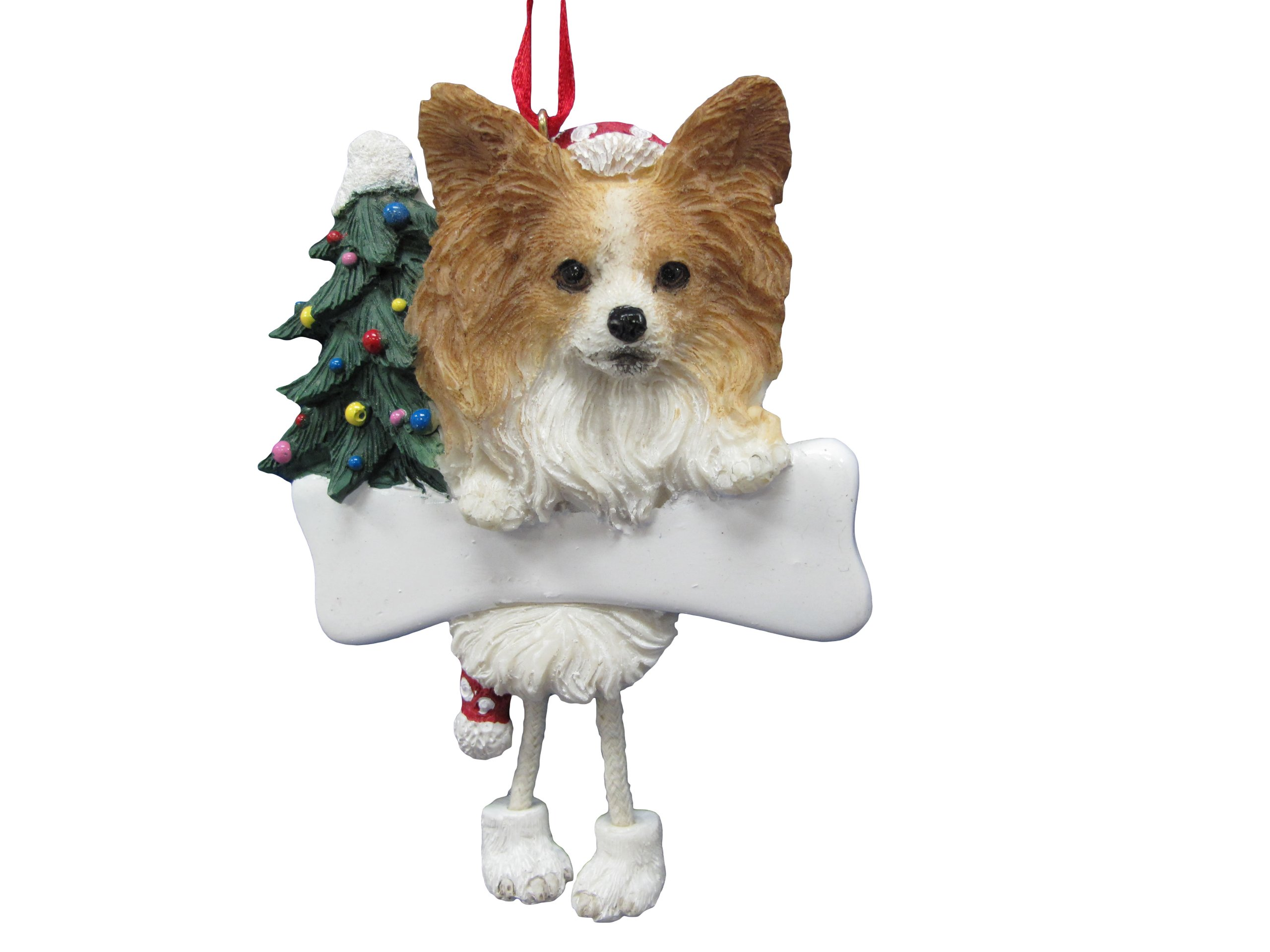 Papillion-Ornament-with-Unique-Dangling-Legs-Hand-Painted-and-Easily-Personalized-Christmas-Ornament