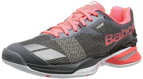 Babolat Jet All Court – Zapatillas de Tenis para Mujer Gris/Rojo Talla:5