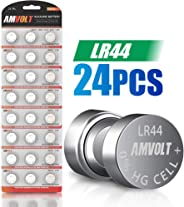 24 Pack LR44 AG13 Battery - [Ultra Power] Premium Alkaline 1.5 Volt Non Rechargeable Round Button Cell Batteries for Watches