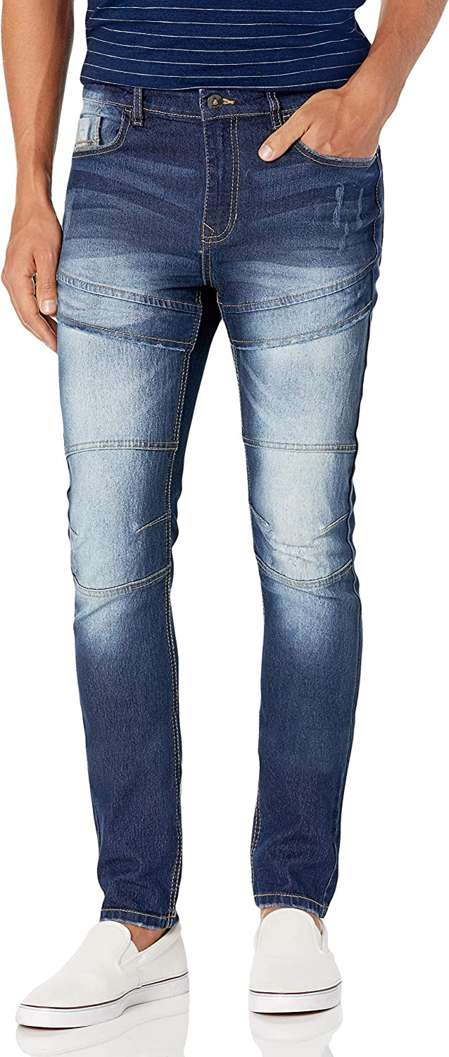 Southpole Men's Comfortable Fashion Skinny Stretch Denim Pants with Various Designs: Clothing
