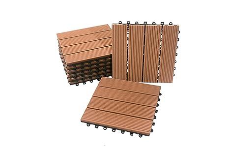 Piastrelle per pavimento di plastica di legno di collegamento