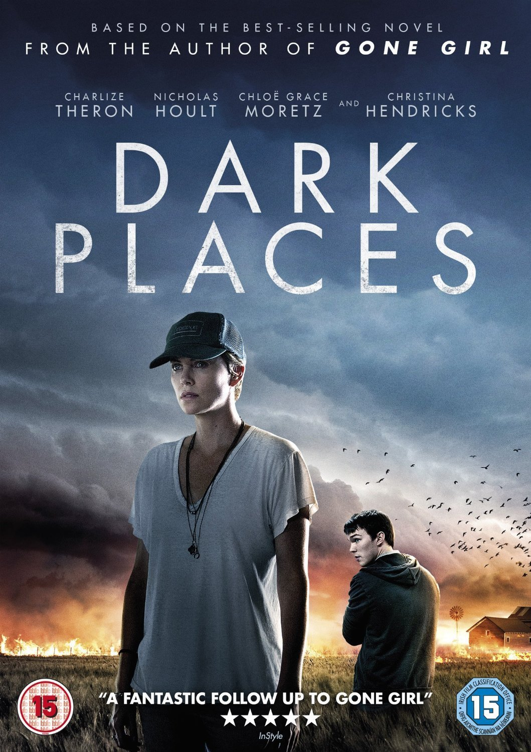 Dark Places by Gillian Flynn adapted into a movie starring Charlize Theron and Nicholas Hoult